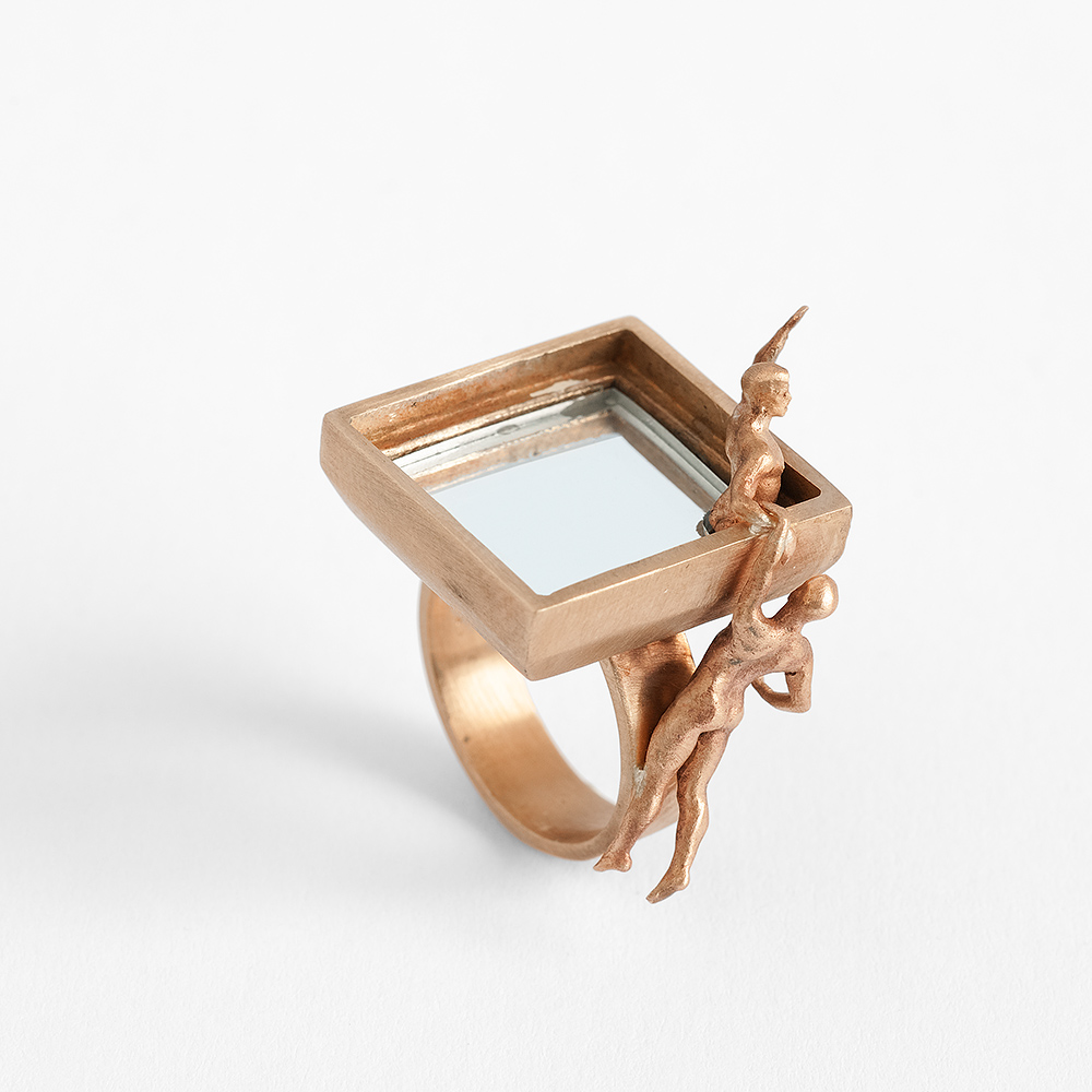 5 - Narcissus we are not alone - ring ring limited edition - bronze , mirror