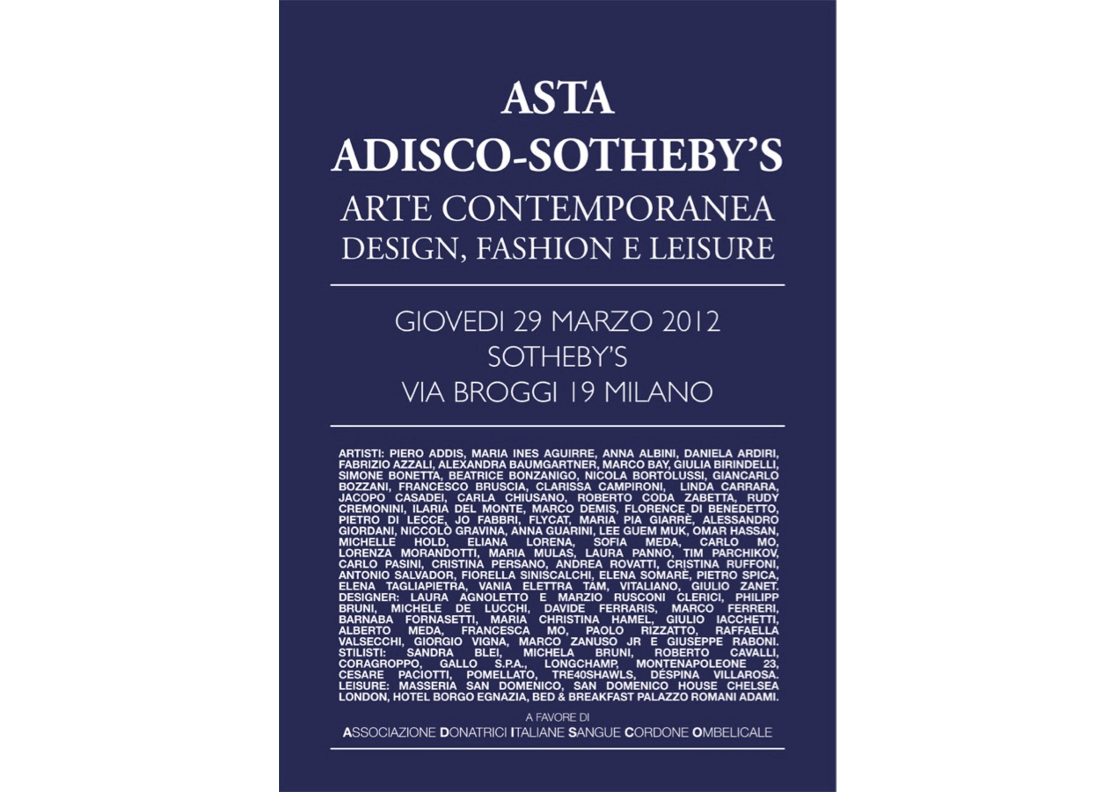 Catalogo Adisco-Sotheby's 2012