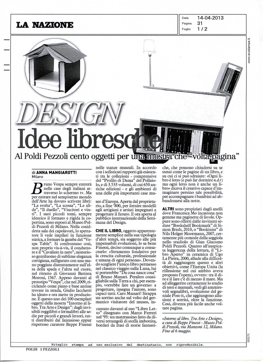Design Idee Libresche La Nazione – 2013