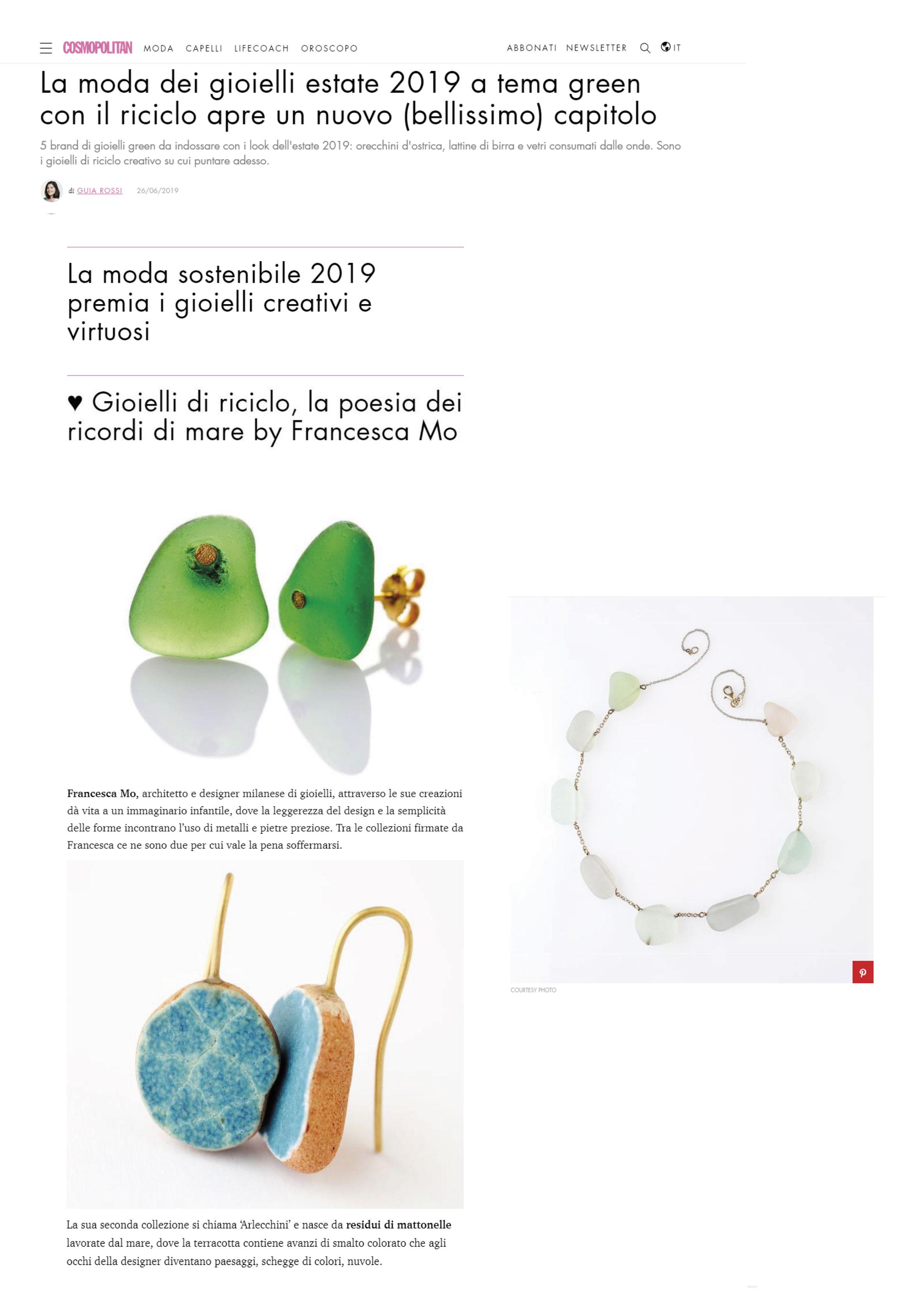 Cosmopolitan 26 Giugno 2019