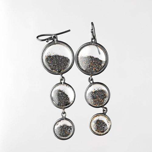 33 - Black sand - Earrings
