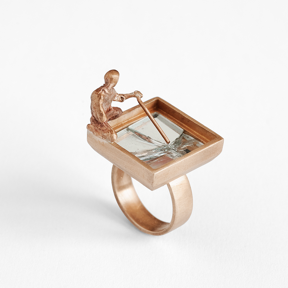 2 - Narcissus vs narcissus- ring limited edition - bronze , mirror