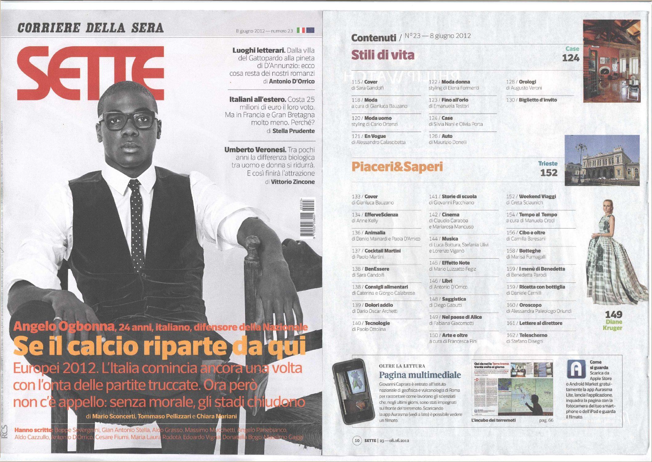 Articolo Corriere Della Sera Giugno 2012