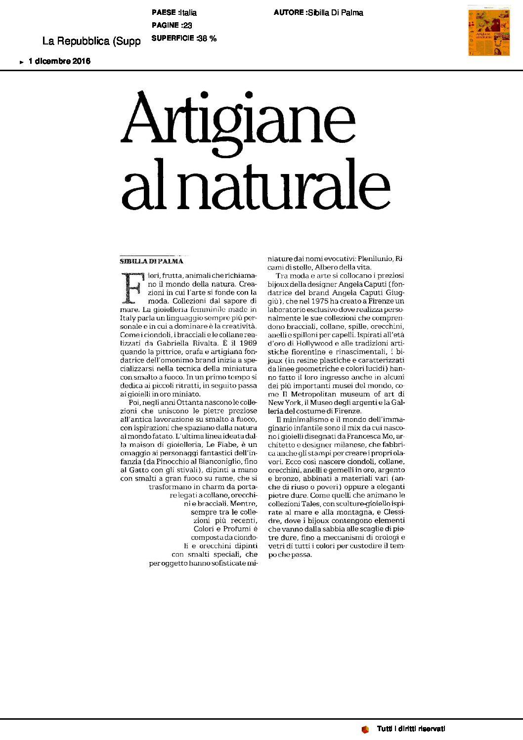 La Repubblica (Supplemento) – 2016